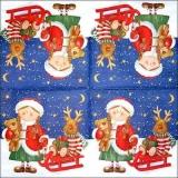 Kleines Mädchen mit ihrem Schlitten, Rentier & Teddy - Small girl with her sledge, Reindeer & Teddy - Petite fille avec son traîneau, rentier & ours en peluche