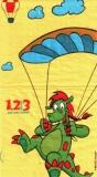 1,2 oder3, Dinosaurier, Fallschirm, Ballon - Dinosaurs, parachute, balloon - Dinosaures, parachute, ballon