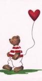 Bär mit Ballon - Teddy