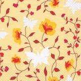 Blumen & Schmetterlinge gelb