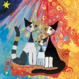 Rosina Wachtmeister-Katzenfamilie - Cat-family - chats, famille des félins