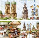 München, Bayern, Mariahilfkirche, Oktoberfest, Viktualienmarkt, Frauenkirche - Munich, Bavaria, Germany, Mary Help of Christians Church, Oktoberfest, open air market, Frauenkirche - Munich, Bavière, A