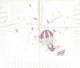 Glad you dropped in! - Glückliche Fallschirmlandung