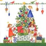 Geschenke unterm Weihnachtsbaum, weiß