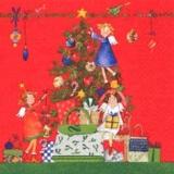 3 kleine Engel & Geschenke unterm Weihnachtsbaum - 3 little angels & presnets under the christmas tree - 3 petit anges & cadeaux sous larbre de Noël